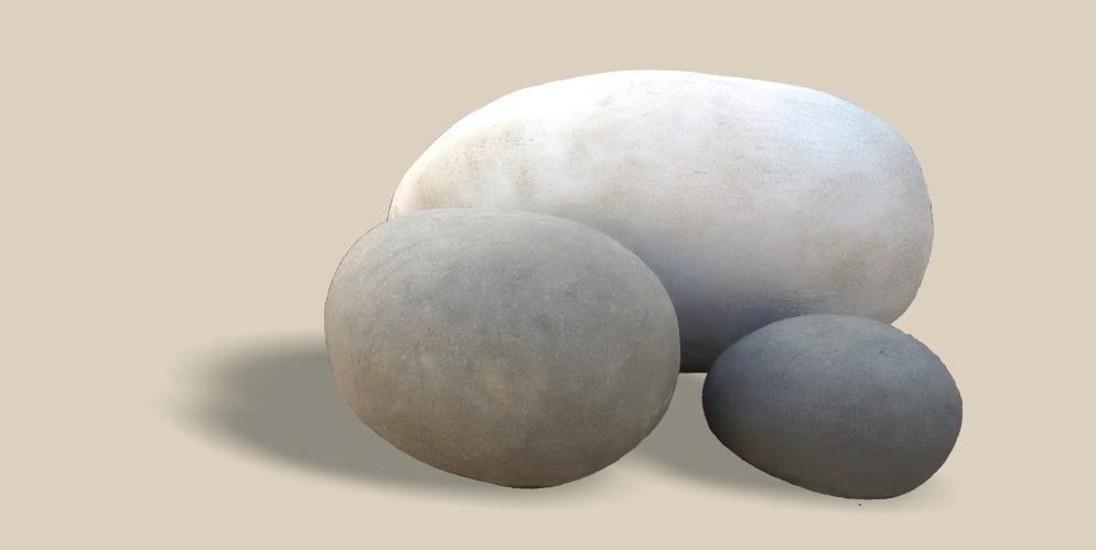 Rocas de río para decoración aligeradas