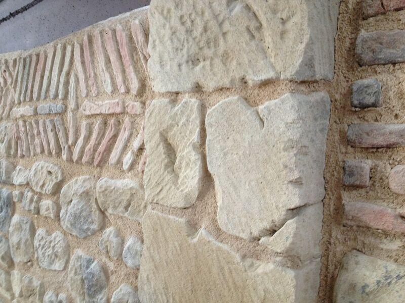 reproducción de piedras y ladrillos