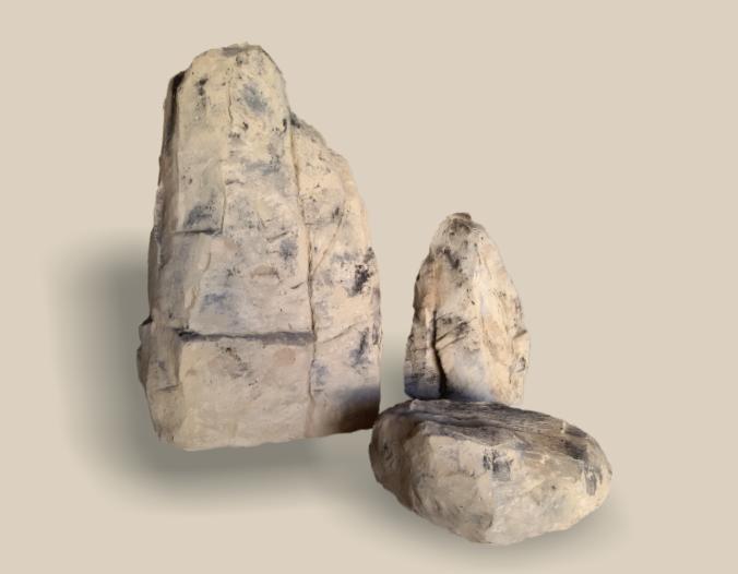 Rocas rústicas para decoración aligeradas