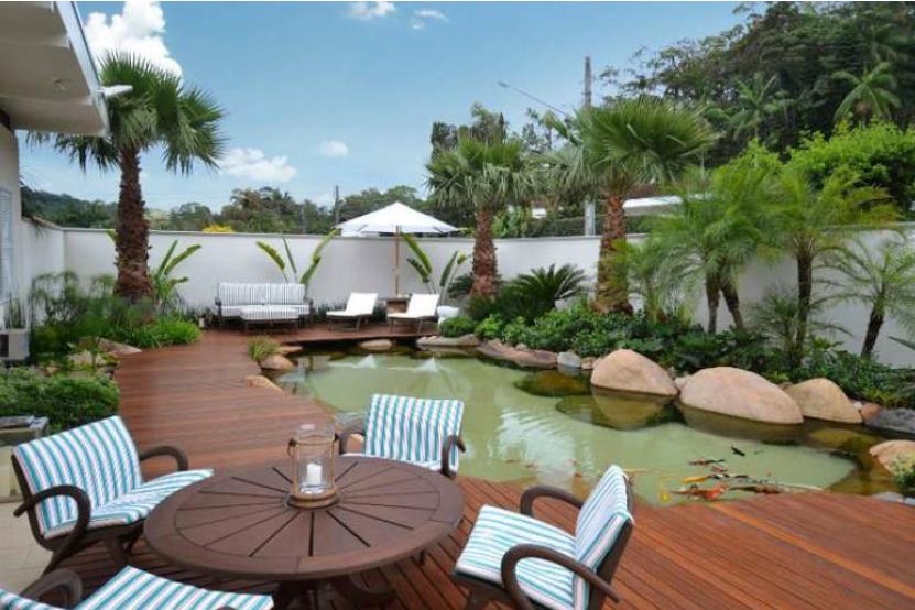 Cascada para jardin y piscinas artificiales cascadasyrocas for Lagos de jardin