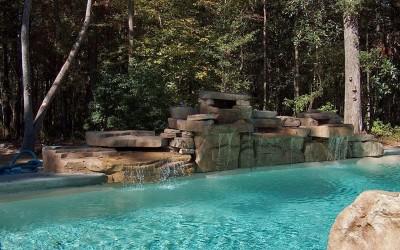 Piedra artificial para piscinas