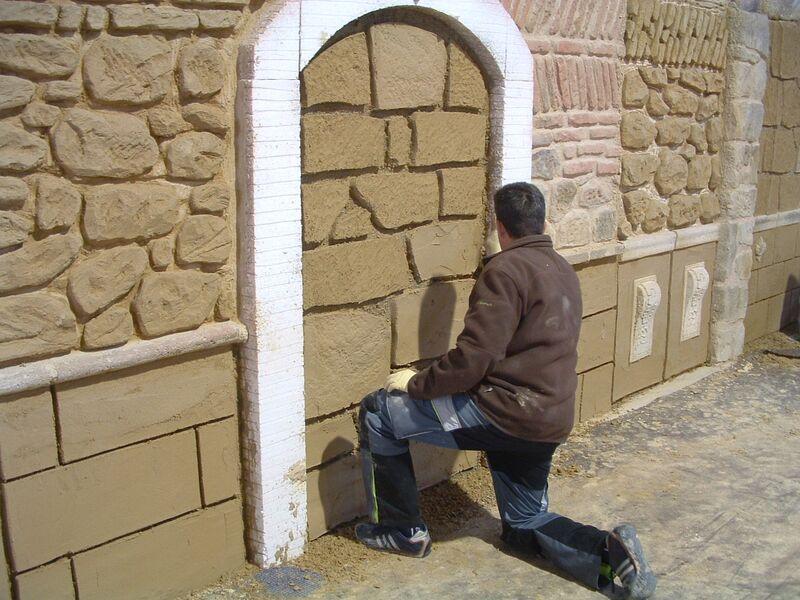 escuela formación revoco de fachadas de piedra