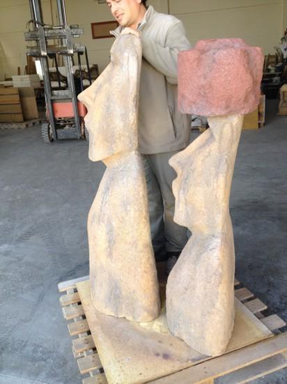 fabricación de figuras de piedra