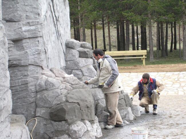 Como hacer piedra artificial decorativa for Piedra artificial decorativa