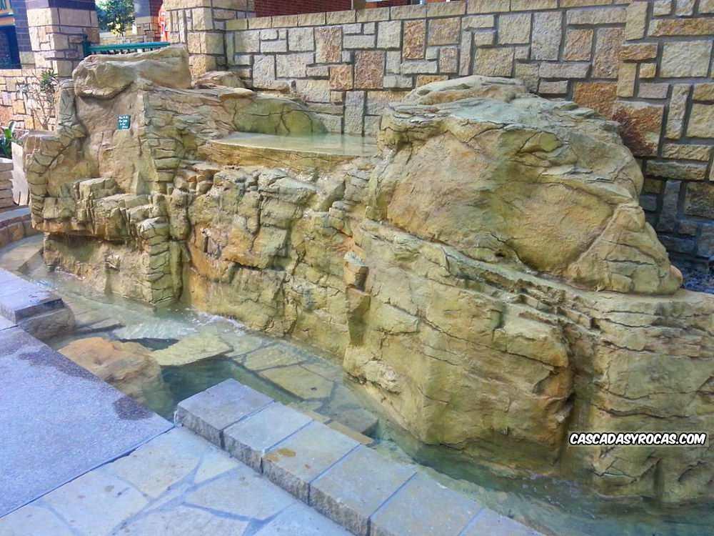 Diseño personalizado fuente piedra artifcial