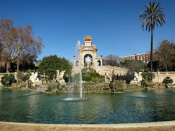 cascada del parque de la ciutadella en Barcelona