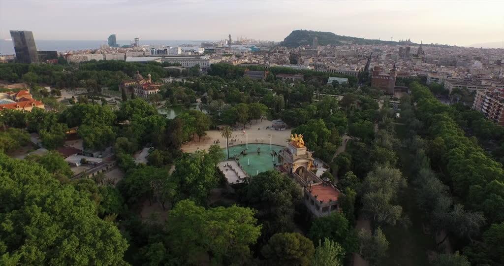 aérea parque de la ciutadella de barcelona