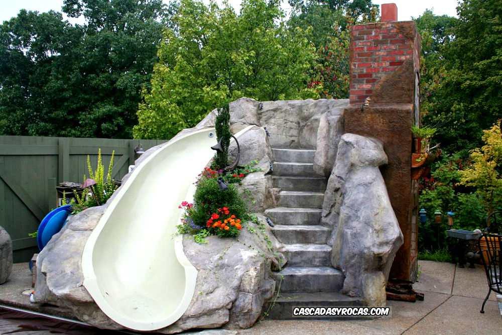 Proyectos personalizados de cascadas artificiales con piedra artificial