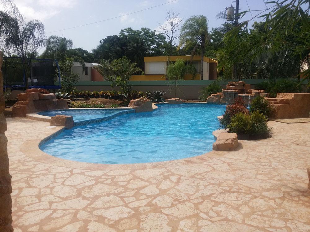zona de playa de piscina